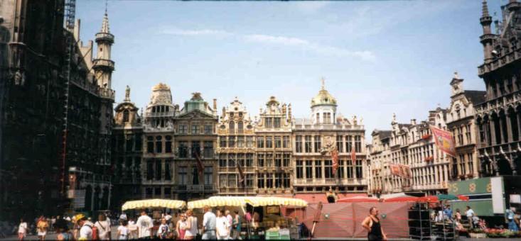 Belgien - Torget i Bryssel